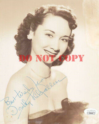 DOROTHY KILGALLEN Signed Best Wishes 8X10 Autographed Photo Reprint