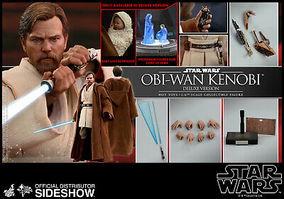 Hot Toys Star Wars Obi-Wan Kenobi Deluxe Action Figure Episode III ROTS In Stock