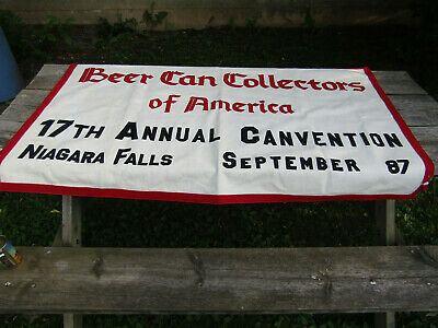 Beer Can Collectors of America 17th Annual Canvention banner Niagara Falls 1987