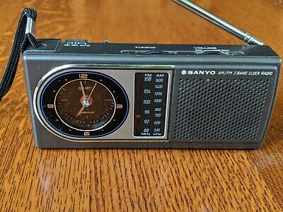 Vintage Sanyo RPM-C5 AM/FM 2 BAND Clock Radio - Fully Working In Mint Condition