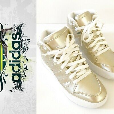 newest dcd82 d524e Adidas NEO Label Raleigh High Tops Size 6 Gold Sneakers Athletic Shoes