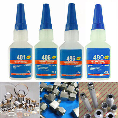 Strong Instant Super Glue 406 Adhesive Liquid For Wood Rubber Leather Paper 20g