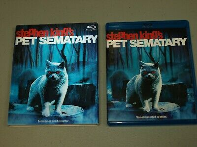 Pet Sematary Blu-ray Disc 1989 With RARE Lenticular Slipcover Stephen King