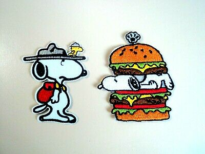 1x Snoopy Dog Patches Peanuts Embroidered Cloth Applique Badge Iron Sew On