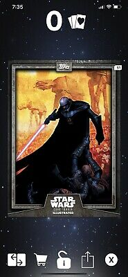 Star Wars Card Trader 2019 CTI Wave 3 Darth Vader Illustrated Gray/Green/Blue