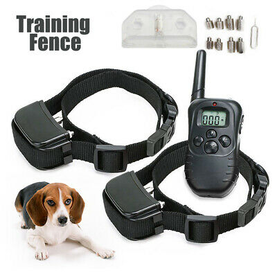 Electric LCD Rechargeable Shock E-Collar 2Dog Remote Control Training Anti-Bark