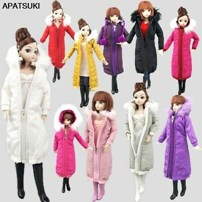 Long Coat Cotton Dress for 11.5in. Doll Clothes Parka For 1/6 BJD Doll Jacket