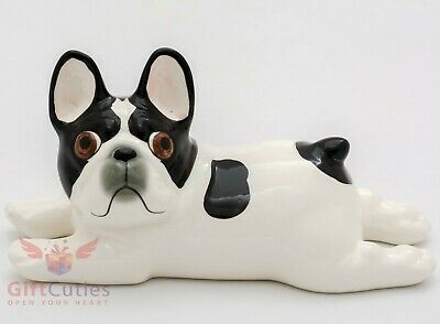 Porcelain Figurine of the French Bulldog dog