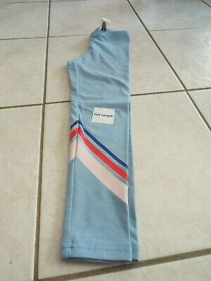 Girl blue cotton stretch full length leggings size XS 5 Old Navy NWT