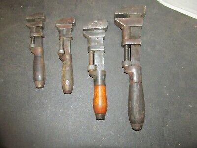 Lot of 4 Antique Monkey Wrenches 2 Coes Sargent & Herschel LQQK!