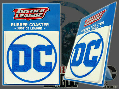 DC Comics Square Logo Rubber Coaster JAPAN Movie Batman Superman Wonder Woman