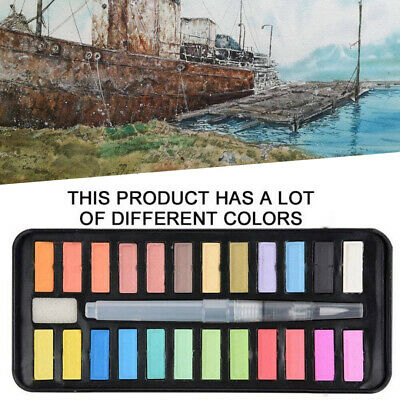 24 Colors Watercolour Paint Set With Brush Painting Water Colour Pigments Kit
