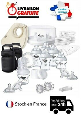 Kit Chicco Boppy Nursing & Sterilizer Tommee Tippee Closer to Nature 82 Pieces