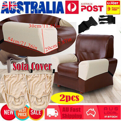 2Pcs Arm Chair Protector Single Recliner Covers Stretch Sofa Couch Washable