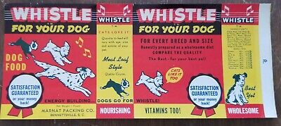 Whistle Dog Food Can Label Bennettsville South Carolina Piedmont File Copy