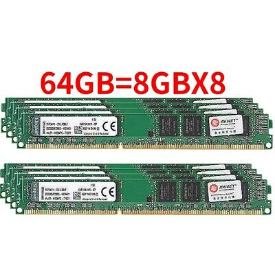 For Kingston 2GB 4GB 8GB 2RX8 DDR3-1333MHZ / 1600MHz 240PIN DIMM Desktop Ram Lot