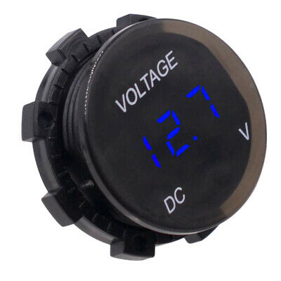 DC12 24V Led Waterproof Display Voltmeter Car Voltage Volt Gauge Panel Meter