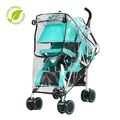 Standard Waterproof Stroller Rain Cover Clear PVC Baby Stroller Clear Cover