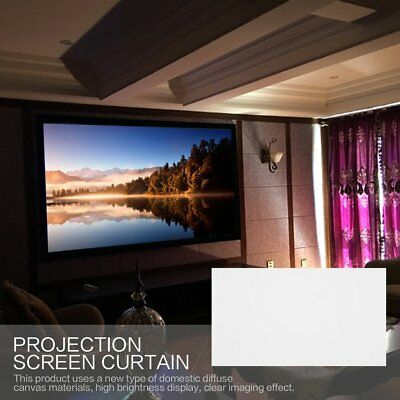 """40""""/50""""/60""""/72""""/ Projector Projection Screen 16:9 Home Cinema Theater White B6"""