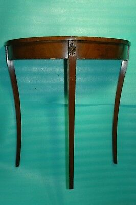 Vintage /Antique Victorian Half Moon  Veneer Wall 3Leg Table Delivery Possible