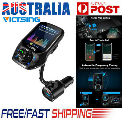 VicTsing Wireless Bluetooth Car MP3 FM Transmitter 3 USB Charger Handsfree Kit