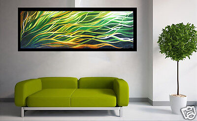 Art oil painting green Abstract Australia modern canvas landscape  aboriginal