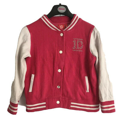 Girls jacket size 7-8 years pink varsity style ONE DIRECTION 1D