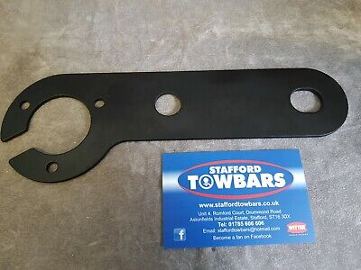 BLACK Tow Bar Trailer thick heavy duty Electric Mount Plate Bracket Fitting 7