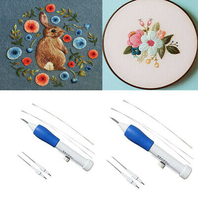 Magic Embroidery Pen Embroidery Needles Weaving Tool Fancy Adults DIY Embroidery