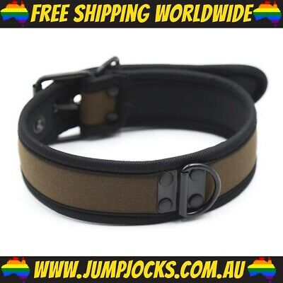 Brown Rubber Puppy Collar - Fetish, Bondage, Gay *FREE SHIPPING WORLDWIDE*
