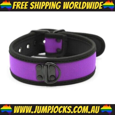 Purple Rubber Puppy Collar - Fetish, Bondage, Gay *FREE SHIPPING WORLDWIDE*