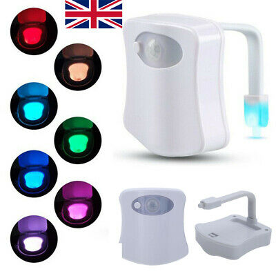 8-24 Colors Toilet LED Night Light Human Body Motion Activated Seat Sensor Lamp