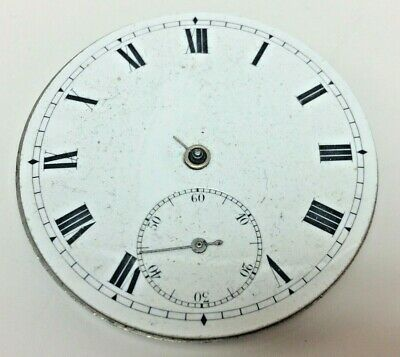 Antique Swiss Made Pocket Watch Movement With Dial Circa 1900