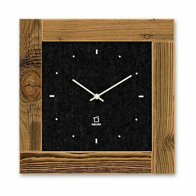 Natuhr Wall clock Scheune - felt with sunburnt old spruce wood Made in Germany