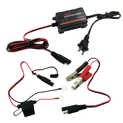 Motorcycle RV Battery Charger Automatic Float Trickle Maintainer 6V 12V New
