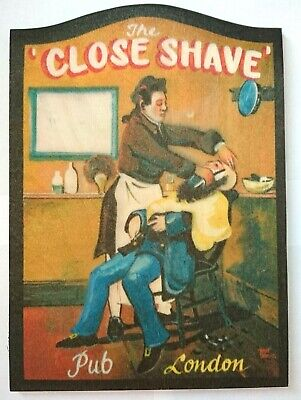 Close Shave Demon Barber Sweeney Todd Hairdresser London mini British pub sign