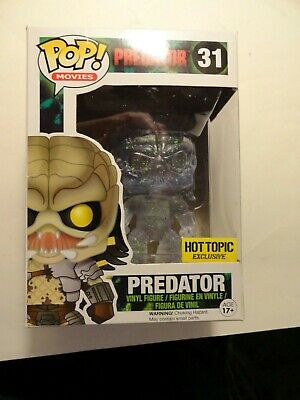 Funko Pop Movies Predator 31 X Clear Green Splatter vinyl figurine