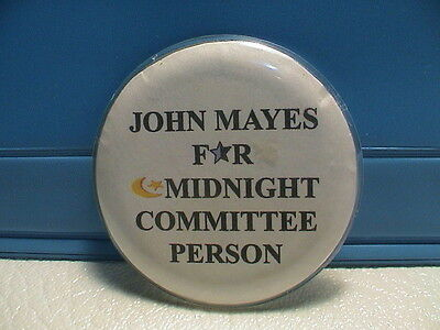 John Mayes For Midnight Committee Chicago Illinois Local Political Pin Pinback