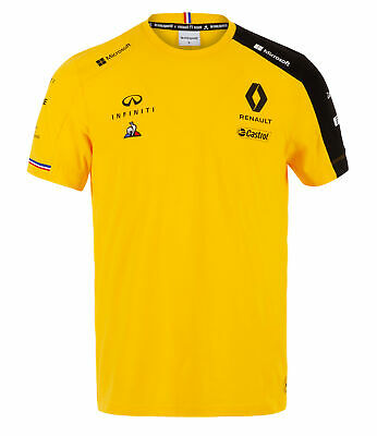 2019 Renault F1 Team Official Mens T-Shirt YELLOW Tee Formula One Merchandise
