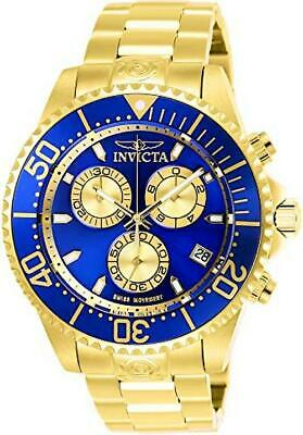 Invicta Mens Pro Diver Quartz Diving Watch W/ Stainless-Steel Strap, Gold, 22