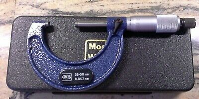 Moore and wright 0-25mm micrometer excellent condition. Number 1966MB