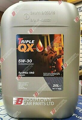 Car Engine Oil Triple QX SynPlus SAE 5W30 Fully Synthetic 20L VAG Spec