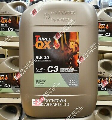 Triple QX SynPlus 5W30 C3 Fully Synthetic Car Engine Oil 20 Litres Low SAPS 20L