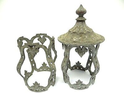 Antique Old Metal Gothic Style Sconce Light Fixture Body Lighting Parts Used