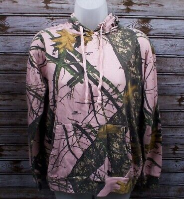2069cd61ac278 Women's Mossy Oak Pink Camo Pullover Hoodie Hooded Sweater Super Soft -  Medium