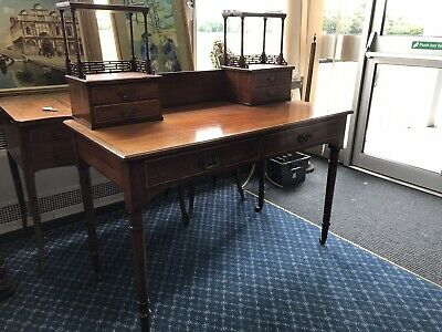 Antique Edwardian Inlaid Mahogany Writing Table / Desk