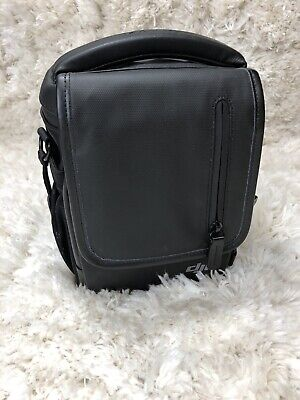 DJI Mavic Fly More Black Leather Drone Camera Bag With Compartments EUC
