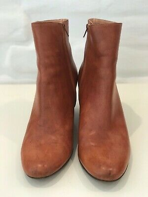 ceb6d8037 Maison Martin Margiela Ankle Boots Brown Leather Size 38,5 Made In Italy!