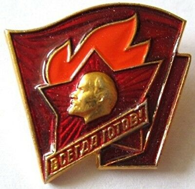 Pioneer leader  The Young Communist League USSR Soviet Russian Pin Badge