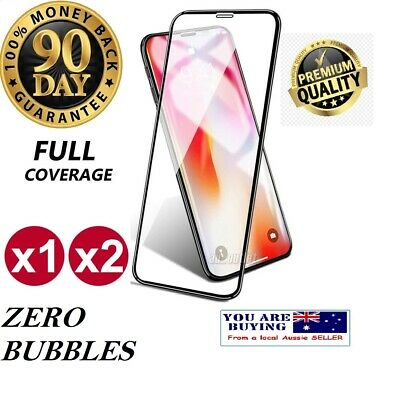 IPhone X XS MAX XR 6 7P 8Plus Full Cover Real Tempered Glass Screen Protector